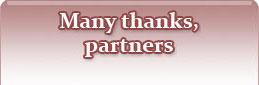 Many thanks, partners