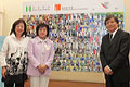 Dr Rosanna Wong,  Commissioner for Narcotics, Mrs. Erika HUI, J.P. and Chief Executive of Kwai Chung Hospital Dr. William Lo