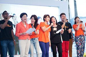 a cappella singers, Mrs Carrie Lam & Dr Rosanna Wong