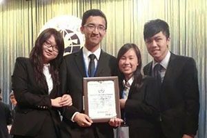 Kelvin Choy at Beijing Model United Nations 2014