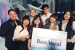 "Hong Kong Melody Makers win ""Best Vocal"" award"