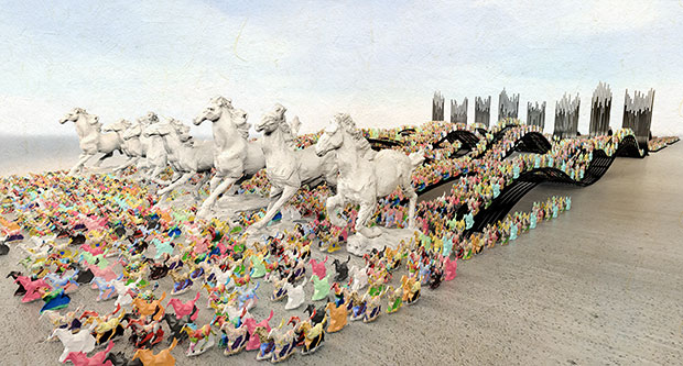 Ten Thousand Galloping Horses, United with One Heart